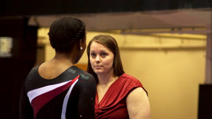 Interim head coach Dierdre Mattocks Bertotti (right) was promoted from her normal position of assistant coach for the team. | Brianna Spause TTN