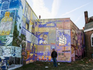 Eric Okdeh helped create murals with inmates who participated in Mural Arts' Restorative Justice Program.   JENNY KERRIGAN TTN