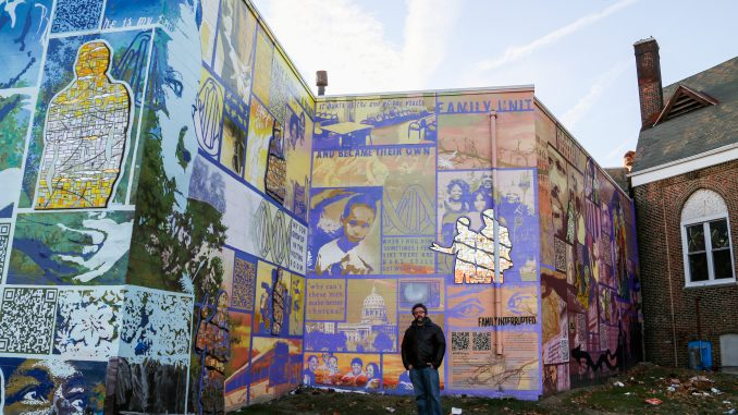Eric Okdeh helped create murals with inmates who participated in Mural Arts' Restorative Justice Program. | JENNY KERRIGAN TTN