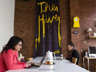 Temple alumna Melissa Alam created The Hive, located in Old City, this past November. Her intern Jillian Hunt (right) is a senior tourism and hospitality major. | Kara Milstein TTN