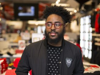 """Curran J. Swint, owner and designer of Kings Rule Together clothing company, said he used his nickname, """"king,"""" to make """"a word into a lifestyle, a lifestyle into a brand, and a brand into a business."""" 