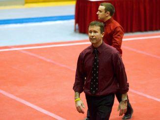 Women's gymnastics coach Aaron Murphy.   Allan Barnes TTN