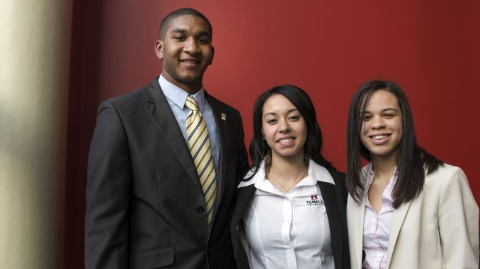 RepresenTU, from left to right: Tyler Sewell, Amber O'Brien and Aaliyah Ahmad. | Kara Milstein TTN