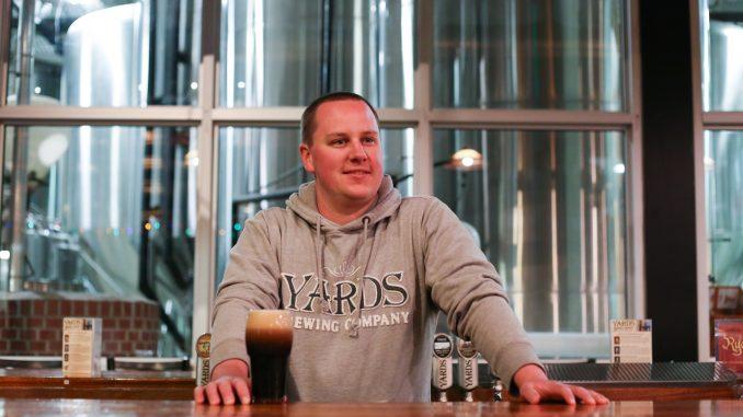 Matt Hall is a brewer at Philadelphia's Yards Brewing Company. | Jenny Kerrigan TTN