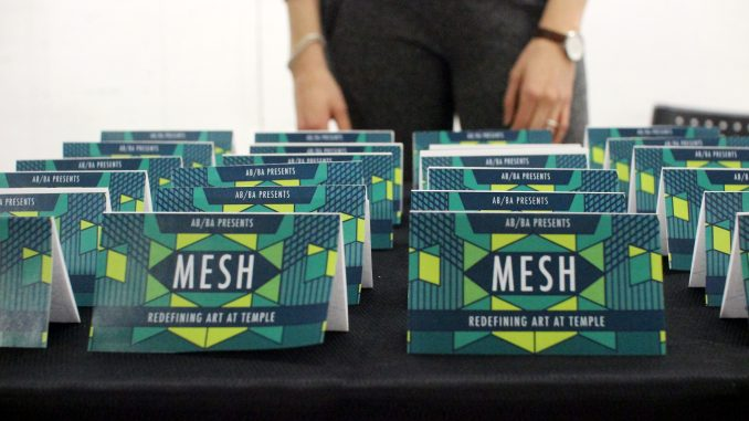 """MESH: Redefining Art at Temple"" exhibited the artwork of students from a variety of academic backgrounds. 