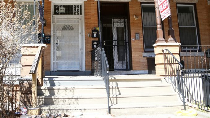 The shooting began on this Park Avenue porch on Friday morning. | Jenny Kerrigan TTN