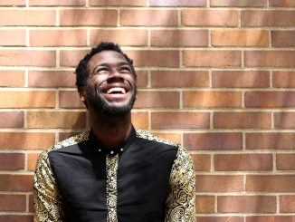 Darryl Gene Daughtry Jr. stands in front of Conwell Dance Theater at Boyer College of Music and Dance, where he has performed on stage over the past four years as an undergraduate theater student.   Jenny Kerrigan TTN
