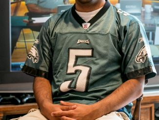 Pratik Patel, a senior business major is a lifelong Eagles fan. | JD Mousley
