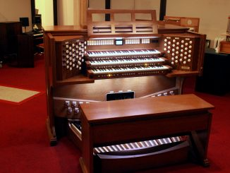 The organ model chosen for the papal Mass was the Rodgers Infinity 361. It was donated by Cunningham Piano, a piano repair and restoration institution owned by Temple alumnus Rich Galassini. | COURTESY Rich Galassini