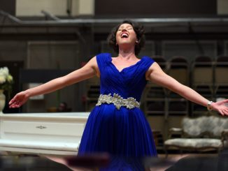 """Lisette Oropesa performs during a rehearsal for """"La traviata"""" at Academy of Music Sept. 21. 