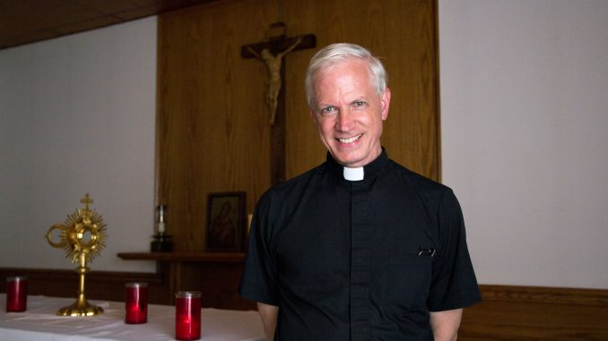 Father Shaun Mahoney is the director of the Newman Center, Temple's Catholic church. | Elena Iwata TTN