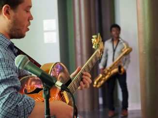 Sean Markey, a senior jazz performance major, performs at The Rite of Swing: Jazz Café at Temple Performing Arts Center Wednesday, Sept. 2.   Tim Mulhern TTN