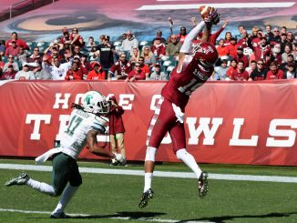 Robby Anderson catches a touchdown in Temple's 49-10 win over Tulane on Saturday.   Geneva Heffernan TTN