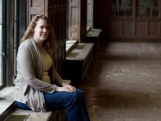 Angela Indik recently completed an internship with the City Archives where she researched Pope John Paul II's 1979 visit to Philadelphia. Her work is currently on display at the Archives' building. | Daniel Rainville TTN