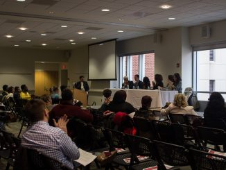 """The College of Education hosted a symposium titled """"Inspire. Incite. Innovate"""" Thursday, Nov. 12. 