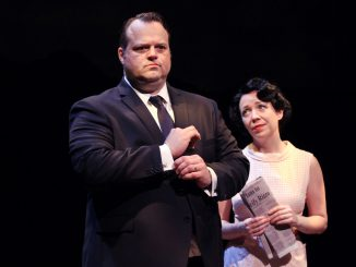 "Scott Greer (left) and Amanda Schoonover perform in ""Rizzo."" | COURTESY Kory Aversa"
