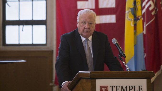 Chairman of the Board Patrick O'Connor addresses trustees during a public meeting Dec. 8. | Jenny Kerrigan TTN