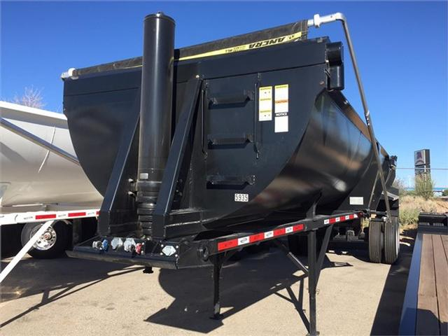 2018 Durahaul 34' frameless end dump, 1/2 round rock tub, electr