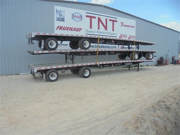 2015 Fontaine 53x102 combo flatbed with rear axle slide
