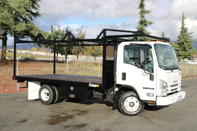 Truck Pipe Rack >> 2020 Isuzu Npr 14ft Flatbed With Lumber Pipe Rack