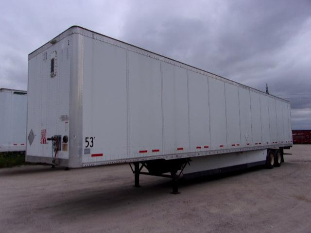 2012 Wabash 53x102 air ride plate van