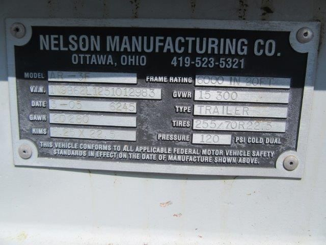 2005 Nelson nelson 35ft long x 102in wide