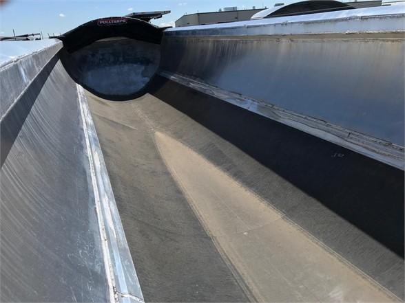 2021 Travis half round 35' alumatech frameless end dump, liner