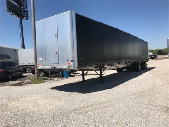 2018 Great Dane 53x102 aluminum flatbed w/ conestoga