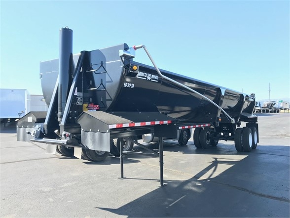 2019 Ranco 38' frameless 1/2 round rock end dump, hi lift gat