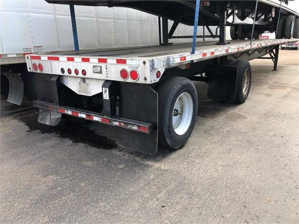 2008 Great Dane 48' combo flatbed, spread air ride, slding winches
