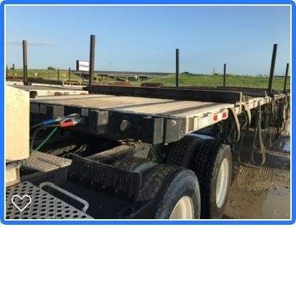2014 Great Dane 48 x 102 combo, pipe stakes, aluminum wheels