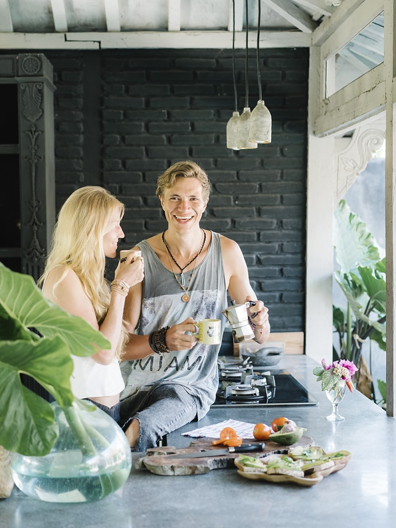 Romantic and relaxing breakfast in Canggu Bali for honeymooners