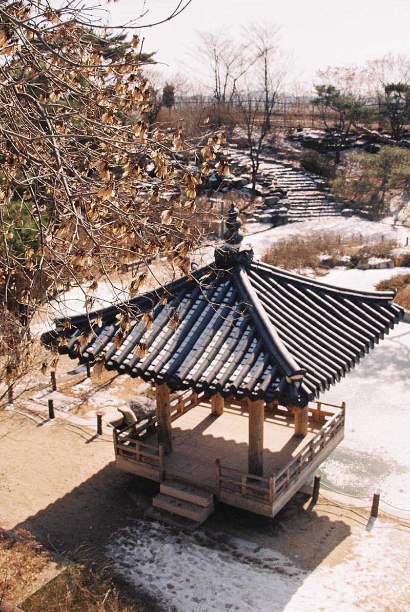 Traditional Korean architecture gazebo