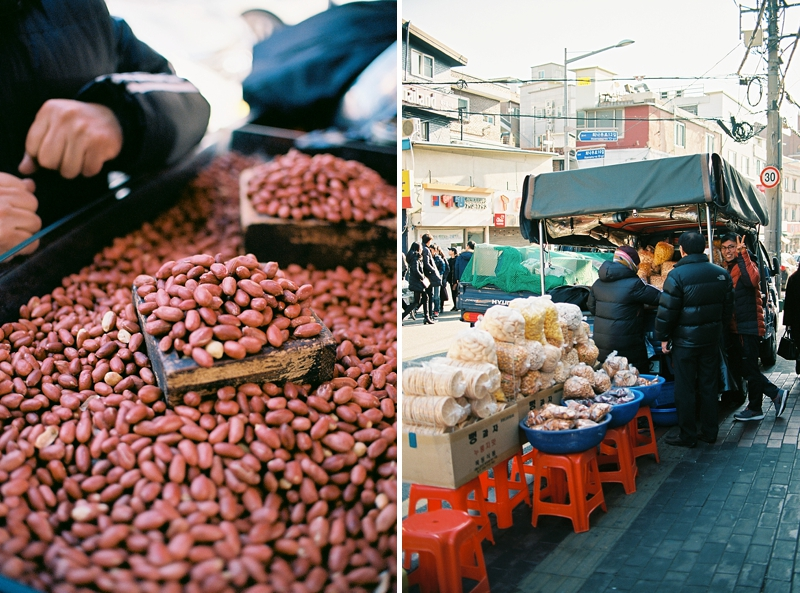 Street food vendors in Seoul