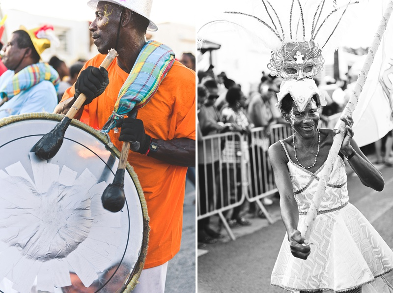 Carnaval celebrations in January on Guadeloupe