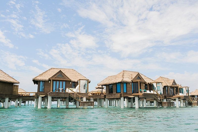 Overwater villas at Sandals Royal Caribbean in Jamaica