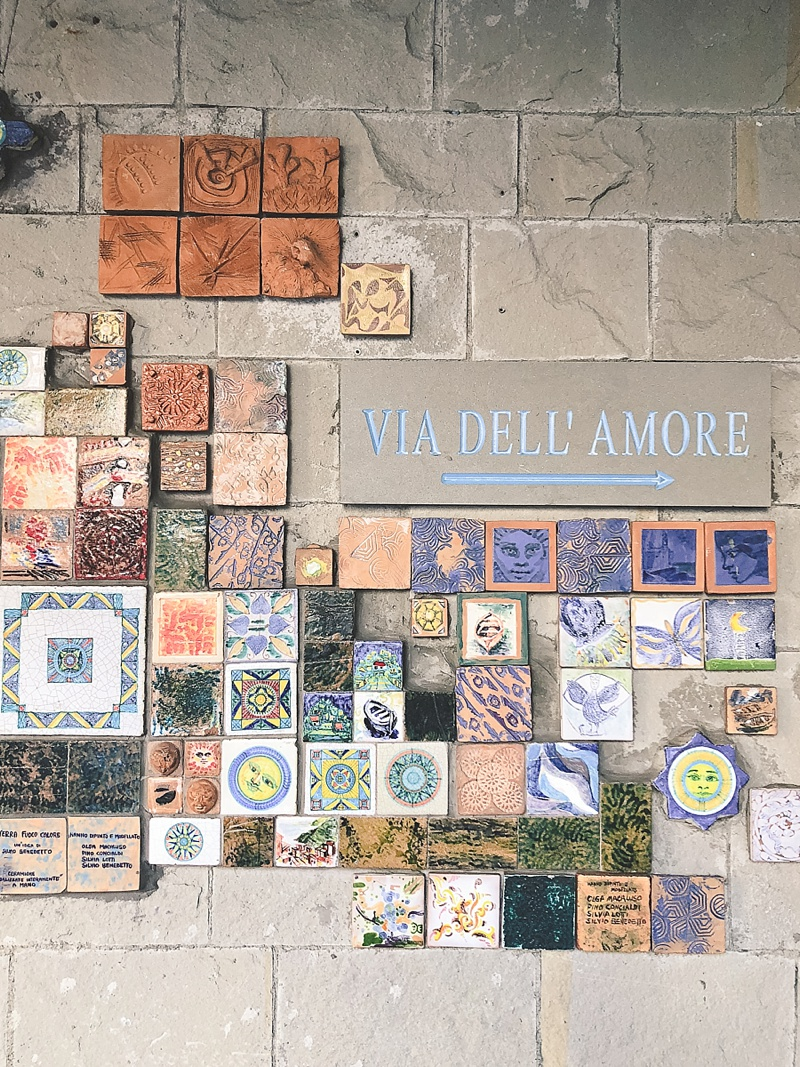 Beautiful local artwork at The Path of Love in Riomaggiore