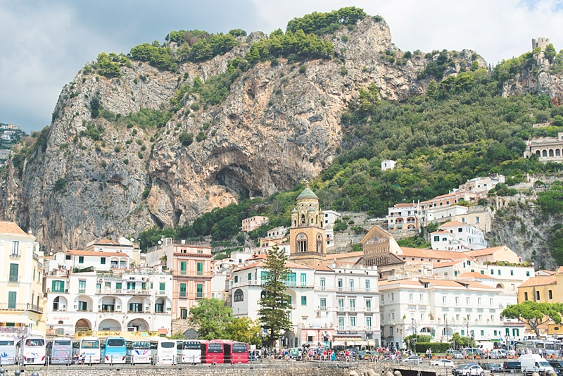 The town of Amalfi for a romantic honeymoon in Italy