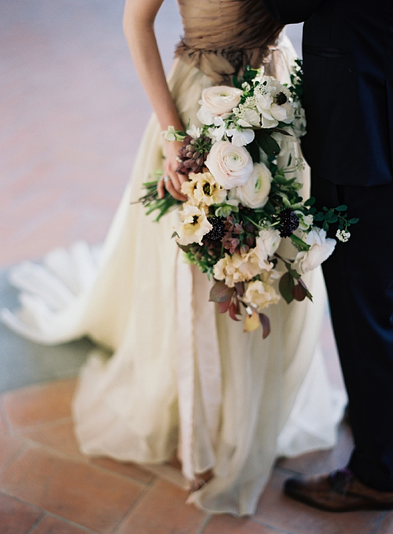 Organic cascade bouquet with Italian flowers