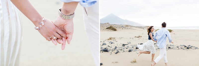Beautiful sunset portraits on Fuerteventura in Spain