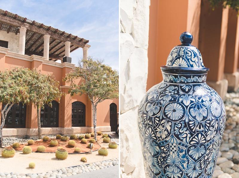 Rustic Mexican luxury honeymoon hotel resort in Los Cabos Mexico