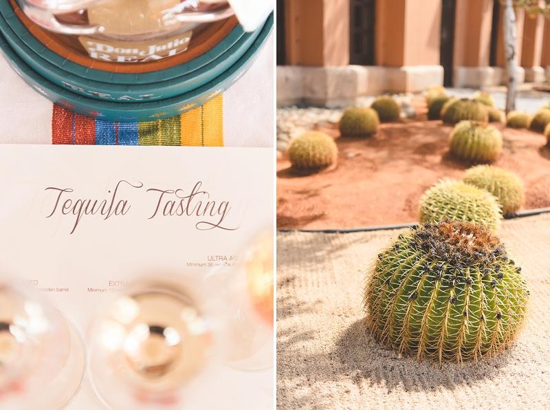 Tequila tasting at Hacienda Encantada in Cabo Mexico for unique honeymoon activity