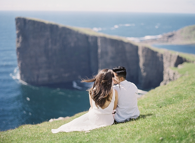 Romantic overlook in the Faroe Islands Denmark