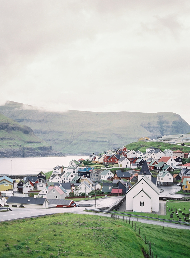 Town of Eidi in Faroe Islands