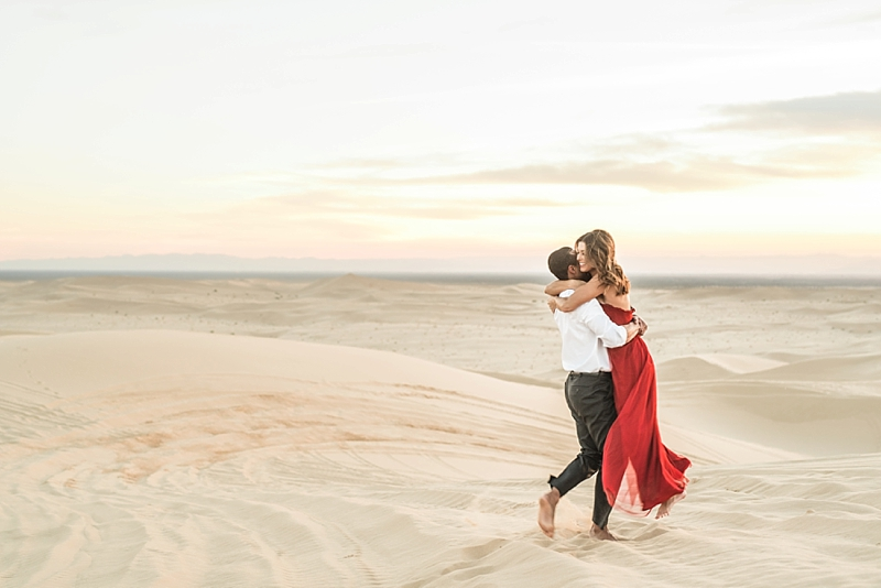 Imperial Sand Dunes California Engagement Photos