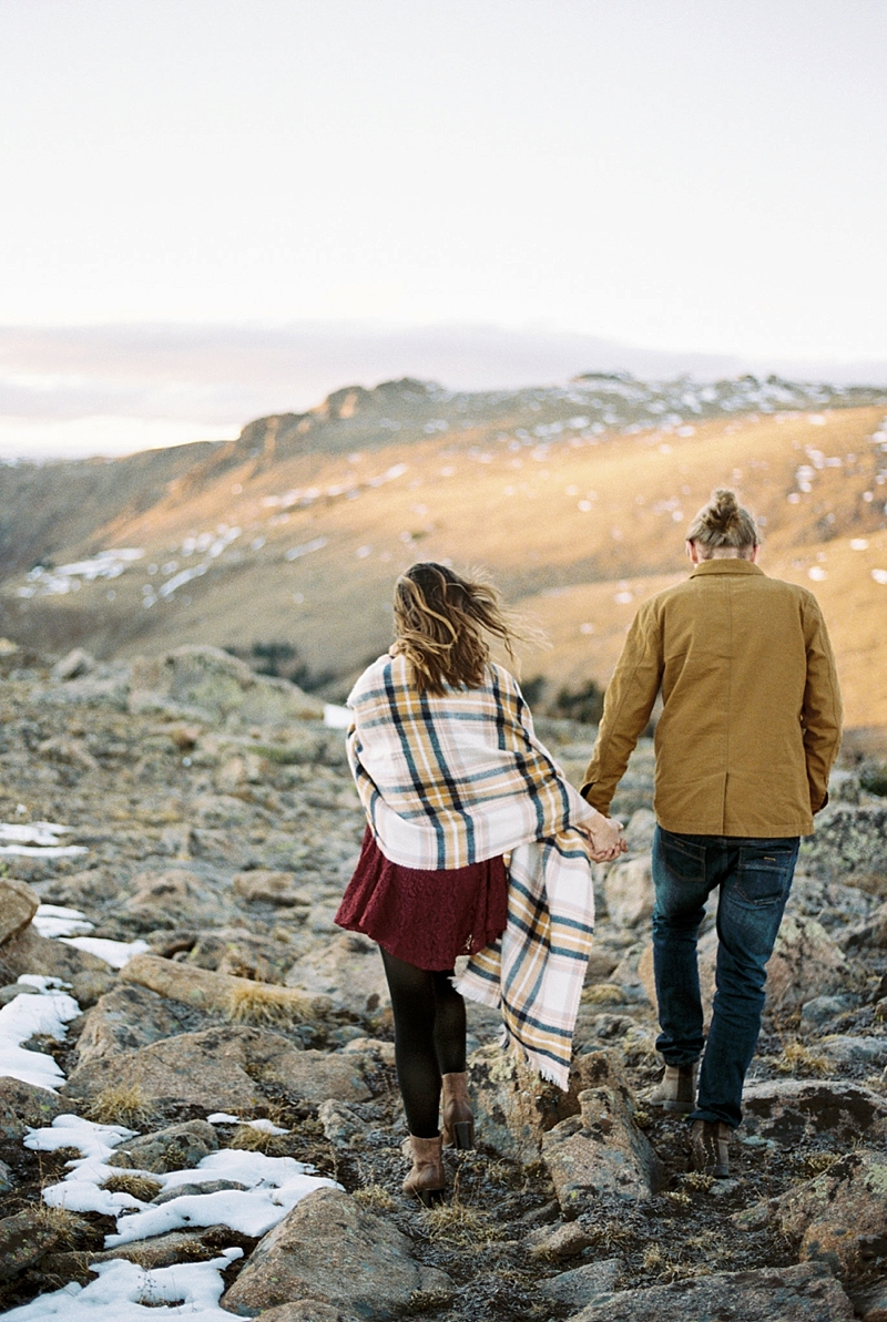 Rocky Mountain National Park engagement session ideas