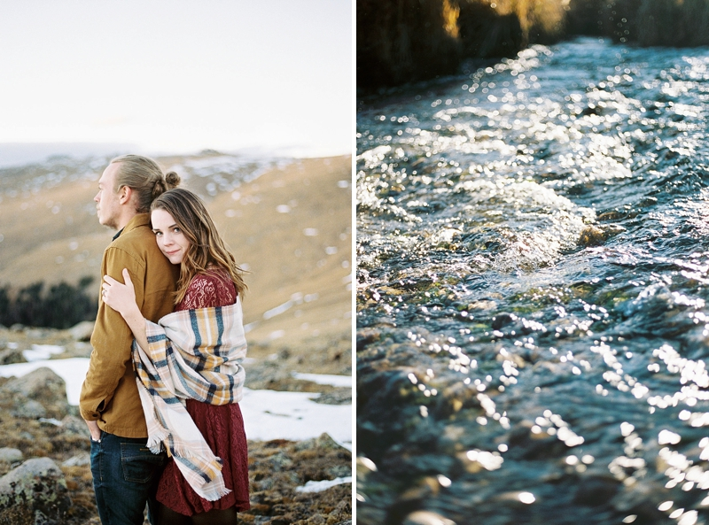 Romantic Rocky Mountain National Park in Colorado wedding anniversary photo
