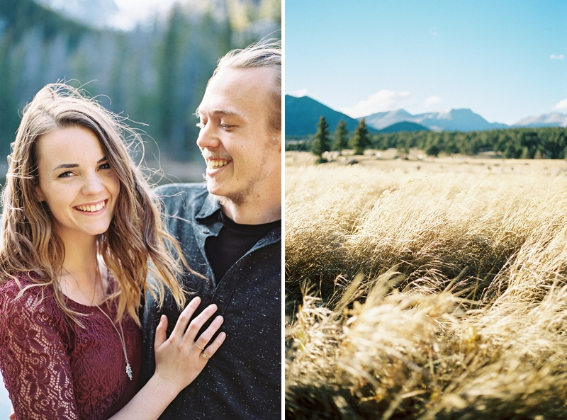 Sweet Rocky Mountain couples photos