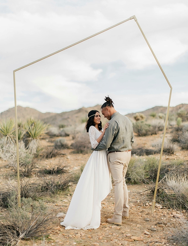Minimalist wedding ceremony arch