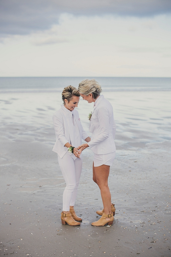 Just the ocean for a beach wedding ceremony